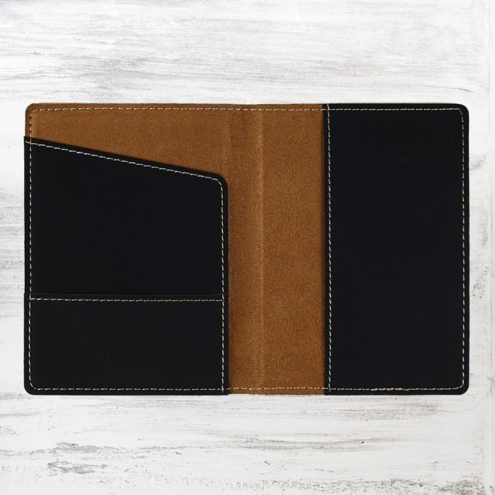 Black/Gold Leatherette Passport