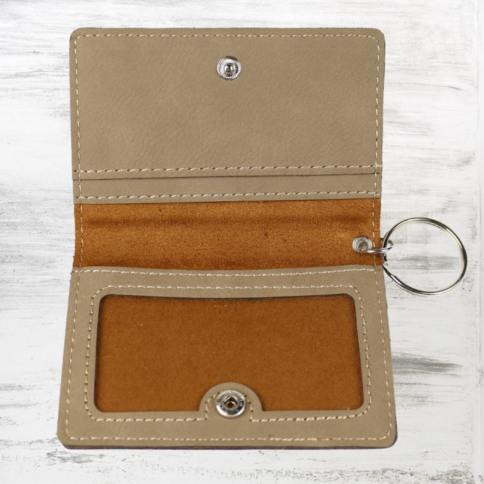 Light Brown Leatherette Keychain