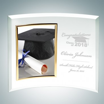 Academic Curved Vertical Gold Photo Frame