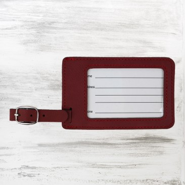Rose Leatherette Luggage Tag