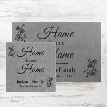 Gray Leatherette Wall Decor Plaque