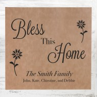 Light Brown Leatherette Wall Decor Plaque