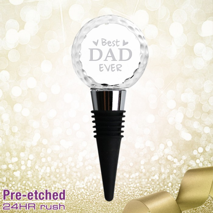 Pre-etched Golf Ball Wine Stoppe