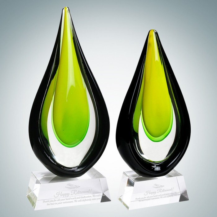 Art Glass Goldfinch Award with C