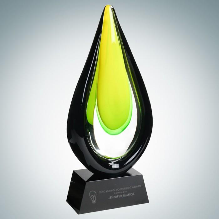 Art Glass Goldfinch Award with B