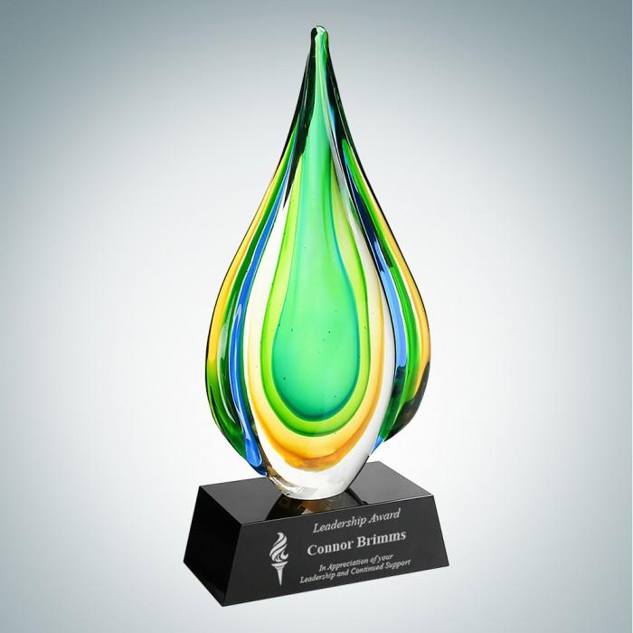 Art Glass Rainforest Award with