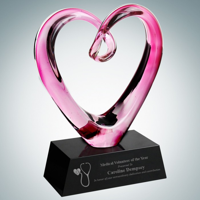 Art Glass Compassionate Heart Aw