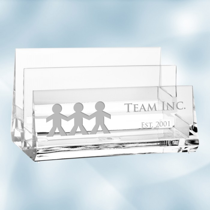 Acrylic 2-Tiered Business Card H
