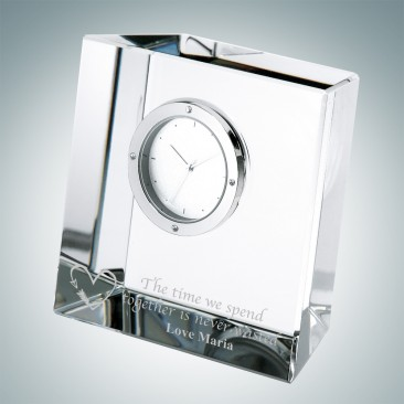 Slanted Block Clock