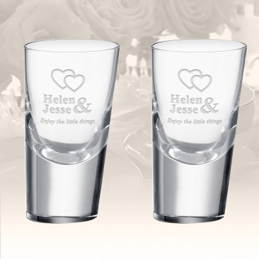 Rogaska Heritage 90 Degrees Shot Glass, Pair