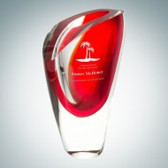 Art Glass Red Lush Vase