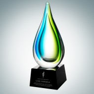 Art Glass Tropic Drop Award