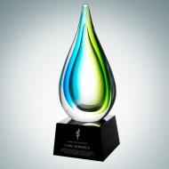 Art Glass Tropic Drop Award