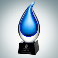 Art Glass Rain Drop Award