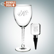 Wine Goblet and Stopper Gift Set