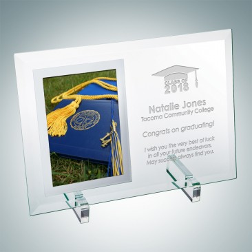 Academic Vertical Mirror Photo Frame with Stand