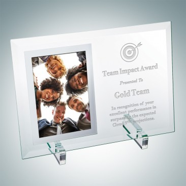 Vertical Mirror Photo Frame with Stand