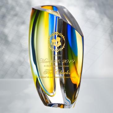 Kosta Boda Blue Amber Mirage Vase
