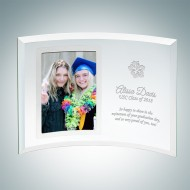 Academic Curved Vertical Silver Photo Frame