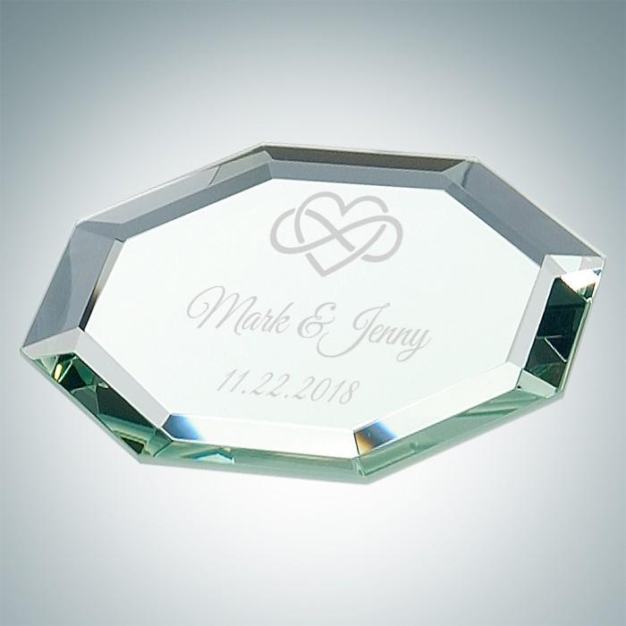 Octagon Glass Mirror Coaster