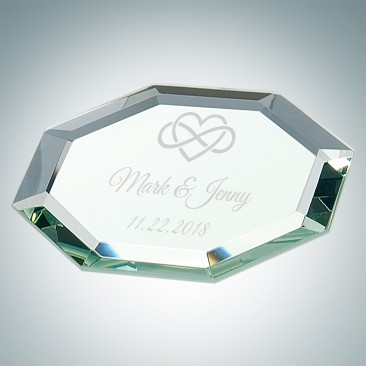 Octagon Glass Mirror Coaster