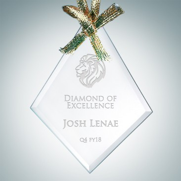 Jade Beveled Diamond Ornament