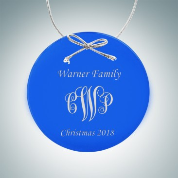 Blue Circle Ornament