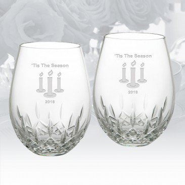 Waterford Lismore Nouveau Stemless Red Wine Glass 16oz, Pair