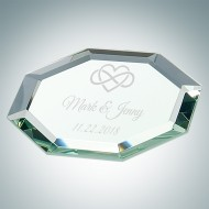 Octagon Jade Glass Mirror Coaster
