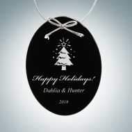 Black Oval Ornament