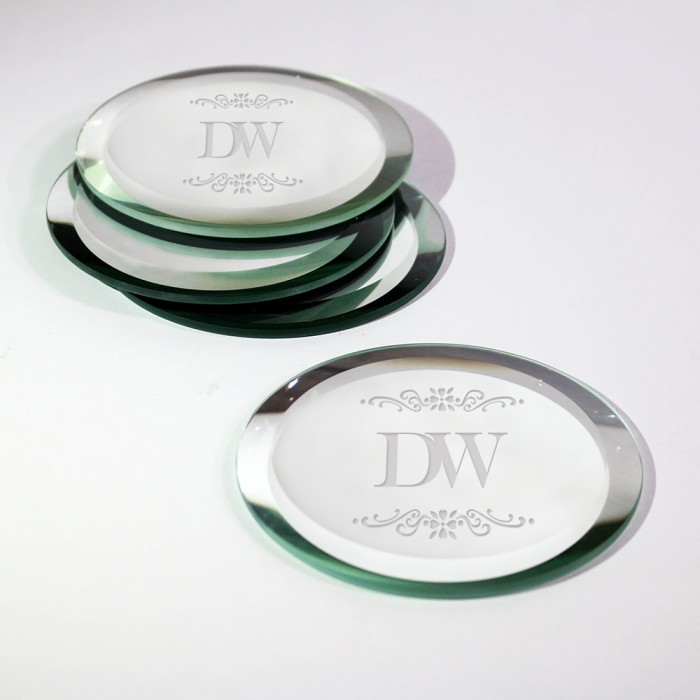 Circle Glass Mirror Coaster