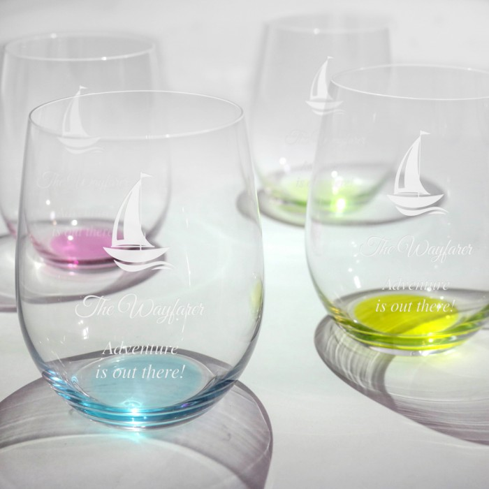 75585431285 Occasions Riedel O Happy Water Glass Personalized Gift | CrystalPlus.com