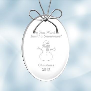 Acrylic Oval Ornament