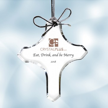 Color Imprinted Acrylic Cross Ornament
