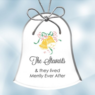Color Imprinted Acrylic Bell Ornament