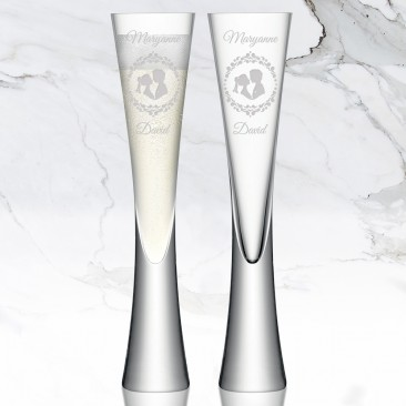 LSA MOYA Clear Champagne Flute 5.7oz, Pair