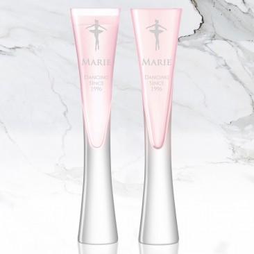 LSA MOYA Blush Pink Champagne Flute 5.7oz, Pair
