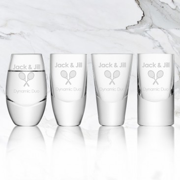 LSA LULU Vodka Shot Glass 2oz, 4pc Set
