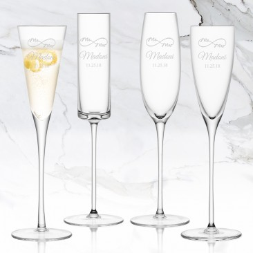 LSA LULU Champagne Flute 5-6oz, 4pc Set
