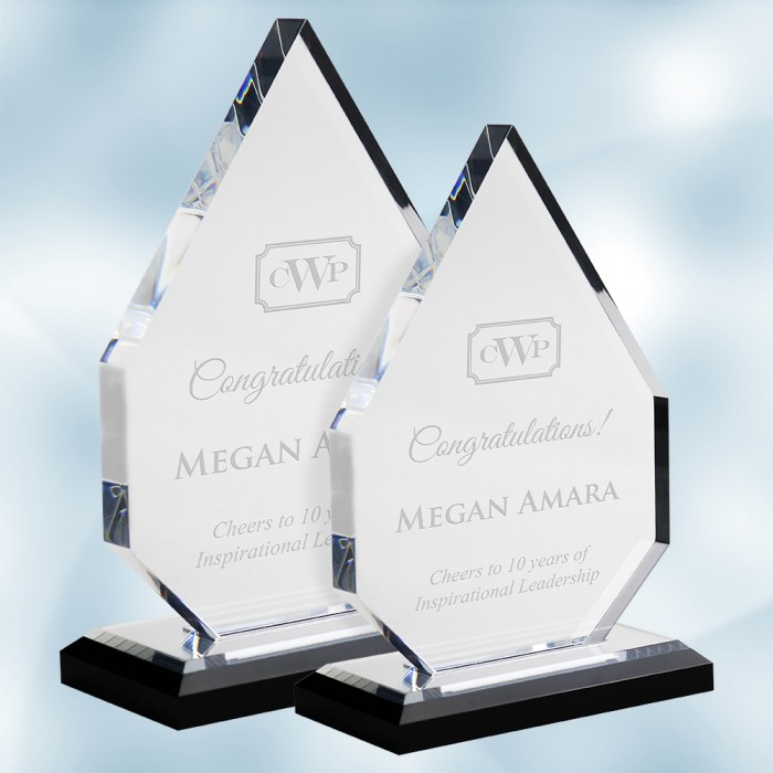 Acrylic Diamond Award with Black