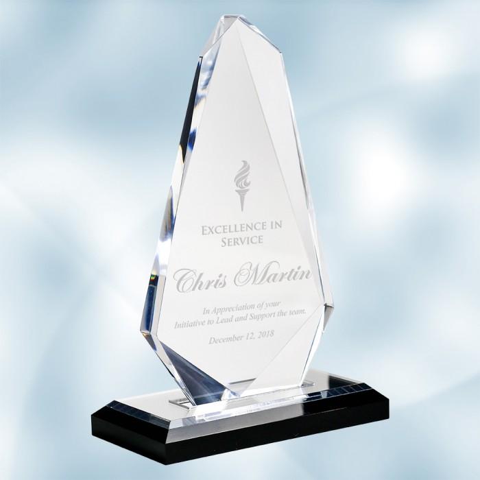 Acrylic Spear Award with Black B