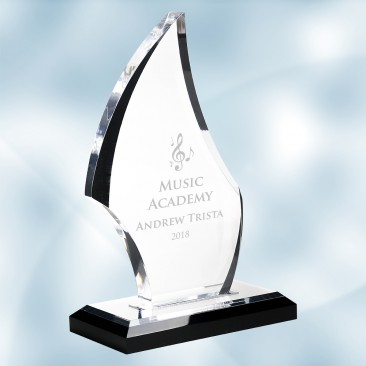 Acrylic Flare Award with Black Base