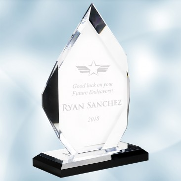 Acrylic Classic Diamond Award with Black Base