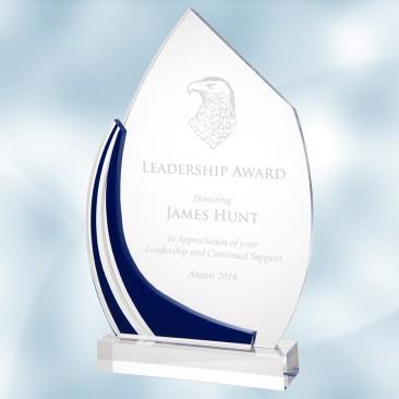 Acrylic Blue Frame Award