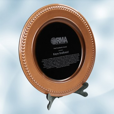 Bronze/Black Award Plate with Acrylic Stand