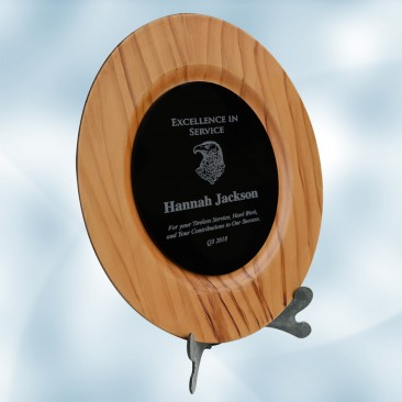 Maple/Black Award Plate with Acrylic Stand