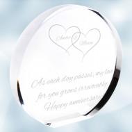 Acrylic Circle Plaque
