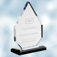 Acrylic Diamond Award with Black Base