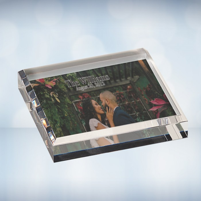 Color Imprinted Photo Acrylic Sq
