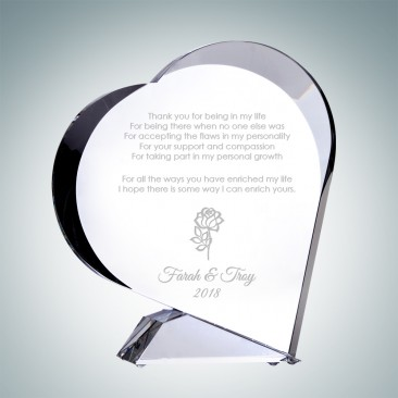The Giving Heart Plaque